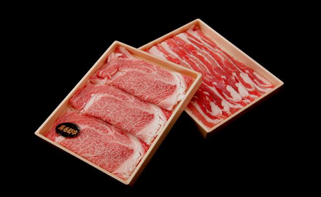 サンキョーミート株式会社 小林市産豚・宮崎県産牛(4等級以上) すき焼きセット