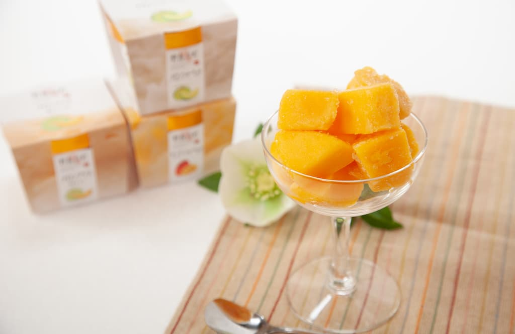 (有)のじり農産加工センター 冷え冷えマンゴーちゃんとメロンアイスのセット